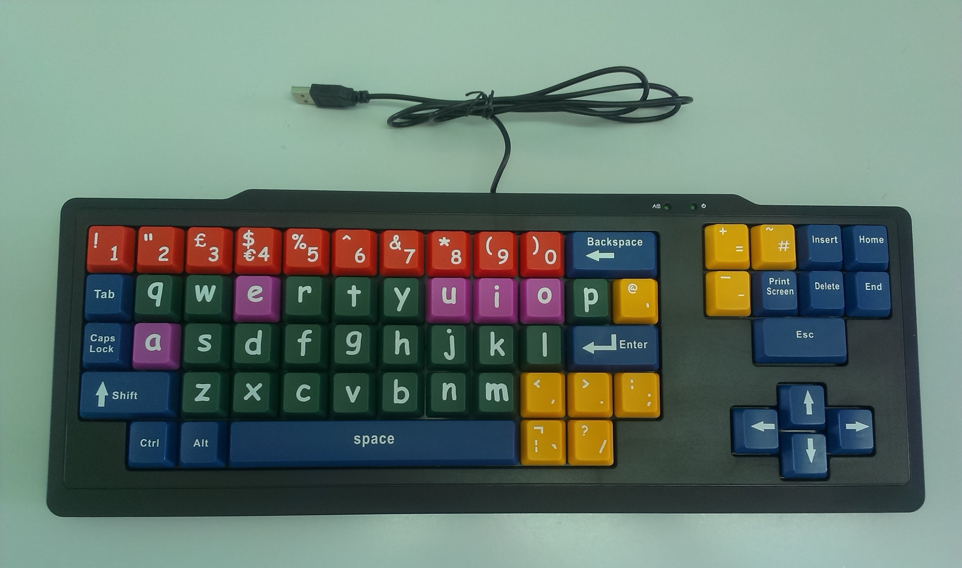 Jumbo keys keyboard - lowercase